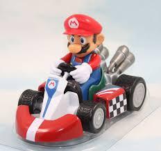 classic game super mario bros action figures kart pull cars