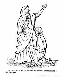 samual anointed king saul testament coloring pages bible