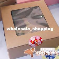 where to buy cake box 16x16x7 5cm hold 4 cupcakes pvc window with insert cupcake cake