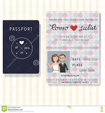 Design Wedding Invitation Cards Passport Design Wedding Invitation Cards With Bride And Groom