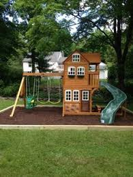 Wood Backyard Playsets by Massive Bridged Ticonderoga Playset Backyard Playscape Playyard
