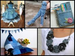recycled denim craft ideas simple diy old jeans projects youtube