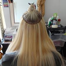 micro with weft and great look kk hair hair extensions