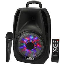 bluetooth party speakers with lights new befree sound 8 woofer bluetooth dj party speaker lights remote
