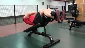 Hammer Strength Decline Bench Decline Abdominal Crunch Arms Crossed Youtube