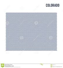 Colorado On A Map by Vector Hexagon Map Of State Of Colorado On A White Background