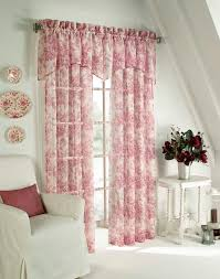 Toile Window Valances Cottage Toile Pole Top Curtain Valance Curtainworks Com