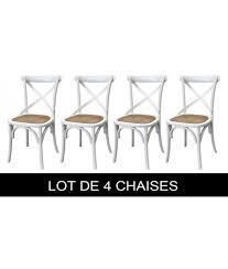 lot 4 chaises blanches lot de 4 chaises blanches shabby chic lamaisonplus