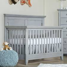 Convertible Crib With Changing Table Gray Cribs Convertible Crib With Changing Table Grey Skirt Babies
