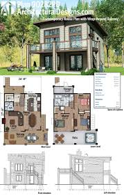 Sloped Lot House Plans 170 Best Modern House Plans Images On Pinterest Modern House