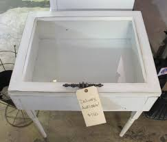 moving sale handmade white antique finish window shadow box side