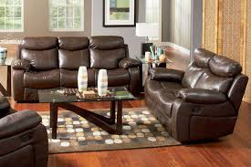 Leather Reclining Sofa Set by Denisa Brown Leather Reclining Sofa Steal A Sofa Furniture
