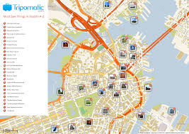 Massachusetts Map Cities And Towns by Free Printable Map Of Boston Ma Attractions Free Tourist Maps