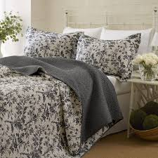 laura ashley girls bedding amazon com laura ashley amberley quilt set king black home