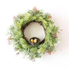 aliexpress com buy bird u0027s nest artificial plants wreaths door