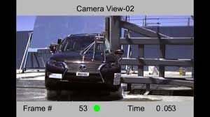 lexus rx450h xe at 2013 lexus rx270 rx350 rx450h nhtsa side pole impact youtube