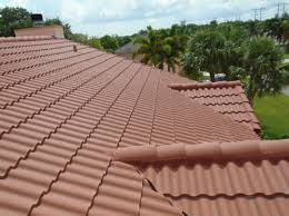 Cement Tile Roof Flat Tile Roof Replaced With New Roll Cement Tile