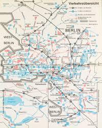 Berlin Map Verkehrsübersicht Overview Of The East Berlin U U0026 S Bahn