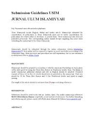 jurnal ulum islamiyyah usim manuscript american psychological