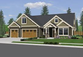 one level craftsman house plans home act