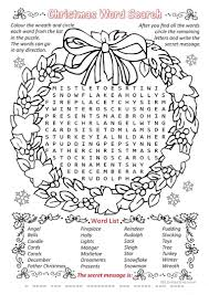 christmas word search worksheet free esl printable worksheets