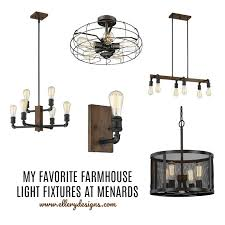 Farmhouse Ceiling Light Fixtures My Favorite Farmhouse Light Fixtures From Menards Ellery Designs