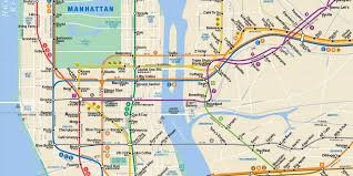 map of nyc nyc best coffee shops by subway stop business insider