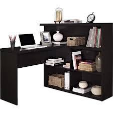 Desk L Shape Ameriwood L Shaped Desk With 2 Shelves Dark Russet Cherry Best