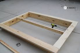 How To Build A Wood Platform Bed by Easy Diy Platform Bed Shanty 2 Chic