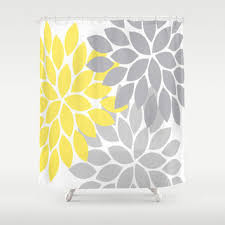 Grey And Yellow Shower Curtains Amazing Grey And Yellow Shower Curtains Decorating With Blue