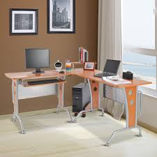 homcom 67 u201d modern l shaped corner computer desk office workstation