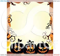 halloween border vector clipart of a halloween border of illuminated jackolantern pumpkins