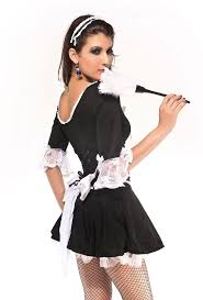 Maid Halloween Costumes Victorian Style French Maid Costume