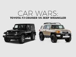 toyota jeep 2017 toyota fj cruiser jeep wrangler suv car wars car comparison