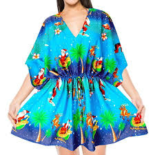 Women Christmas Beachwear Casual Kimono Swimwear Blouse bikini Cover