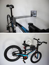 put your bike on display with these wall mounted bike racks