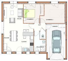 plan maison plain pied 2 chambres garage plan maison plain pied 2 chambres plans de maisons plan maison 6 con