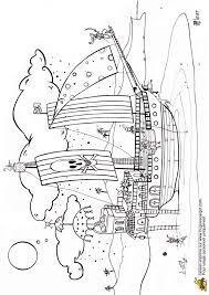 coloriage d u0027un grand vaisseau de pirates sur la plage coloriage