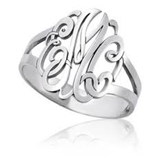 Custom Monogram Rings 93 Best Monogram Jewelry Images On Pinterest Monogram Jewelry
