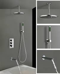 3 dial 3 way round concealed thermostatic mixer valve bath filler