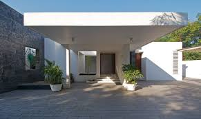 terrace design at minimalist house in baroda india by atelier dnd