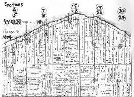 avon ohio map property map of northern avon township 1874 avon ohio