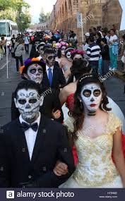 morelia mexico 1st nov 2016 a queue of boys who dress up as