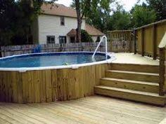 Small Backyard Deck Ideas by Small Backyard Above Ground Swimming Pool With Deck Ideas Wooden