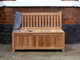 wood outdoor storage bench waterproof great outdoor storage