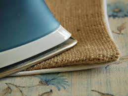 how to make a hand painted burlap table runner hgtv