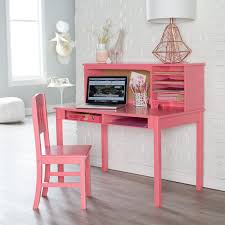 desk and chair set guidecraft media desk chair set coral hayneedle