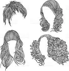 hairstyles stock vector art 165629906 istock