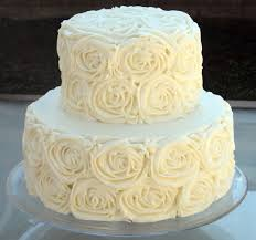 wedding cake icing how to make buttercream icing cakes rosettes white wedding