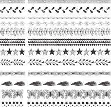 hand drawn tattoo designs vector border and decorative elements